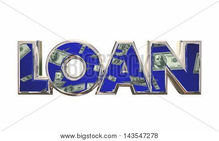 Loan Borrow Money Cash Apply Mortgage Financing 3d Illustration