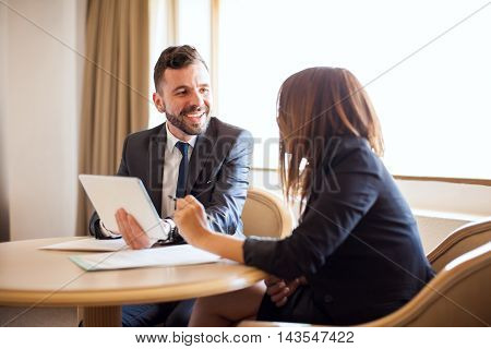 Businessman Flirting With His Coworker