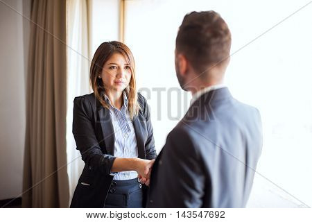 Job Candidate Meeting His Recruiter