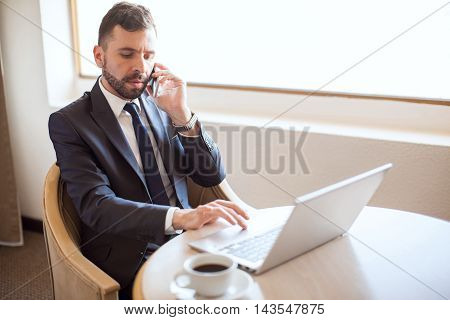 Busy And Successful Businessman At Work