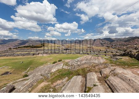 Glacier Erosion In Saqsaywaman Peru