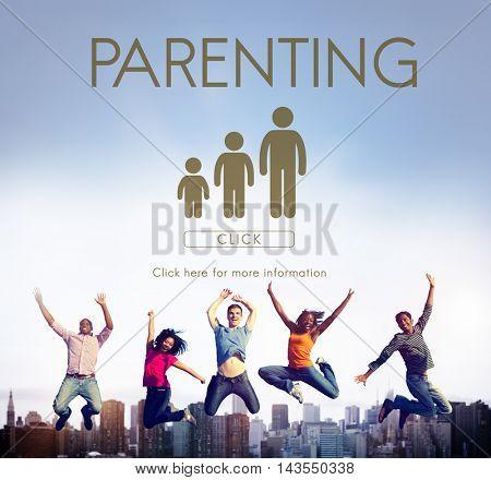 Parenting Generations Togetherness Relationship Concept