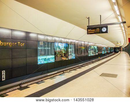 Ubahn Station (hdr)