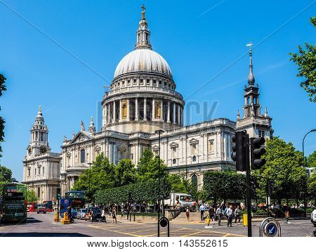 St Paul Cathedral In London (hdr)