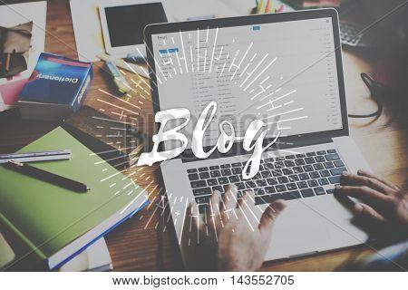 Blog Social Media Information Connect Concept