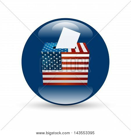 United States Election Vote Badge with shabow on white background