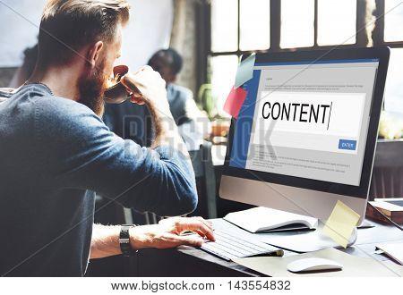 Digital Content Sharing Connect Website Searchbar Concept