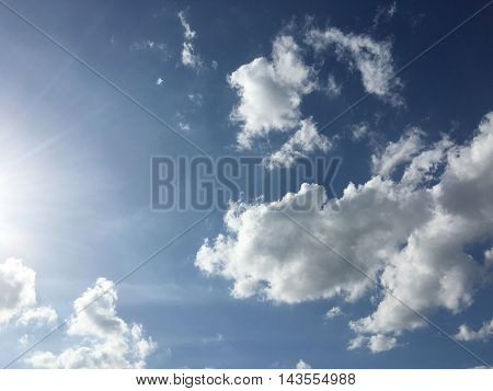 Blue Sky and clouds background. Soft focus sky and cloudy.