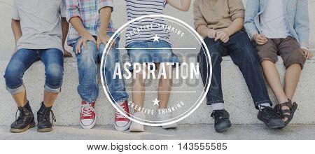 Aspiration Ambition Aspire Goals Target Vision Concept