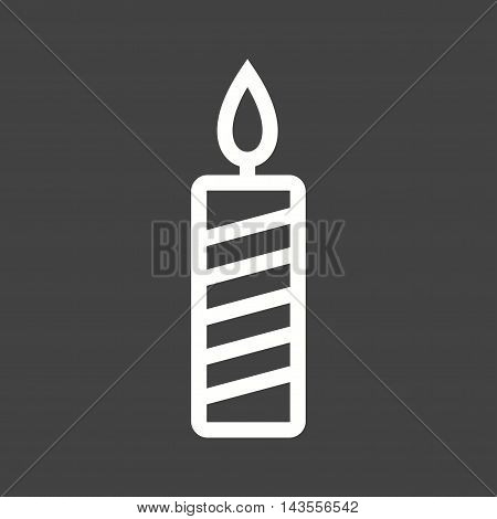 Candle, light, flame icon vector image. Can also be used for birthday. Suitable for mobile apps, web apps and print media.