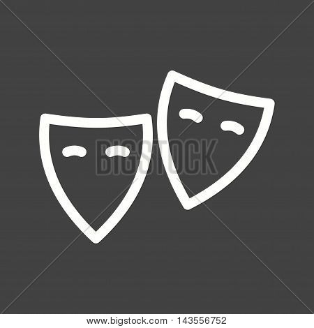 Theatre, acting, cinema icon vector image. Can also be used for birthday. Suitable for use on web apps, mobile apps and print media.