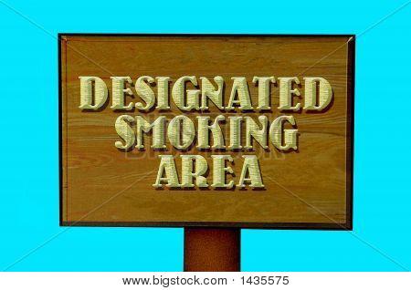 Designated Smoking Sign