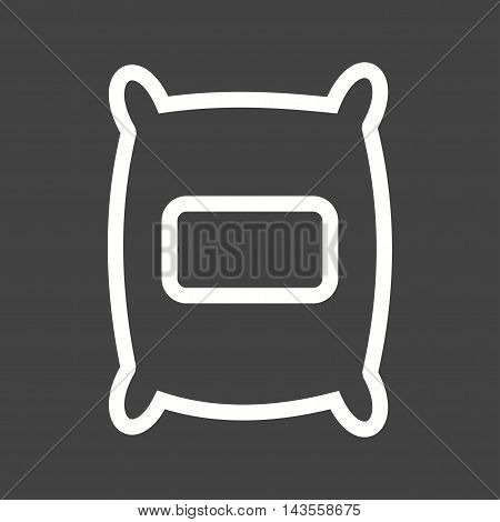 Bag, sack, grain icon vector image. Can also be used for farm. Suitable for mobile apps, web apps and print media.