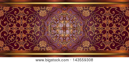 abstract antique oriental decor sprinkler element tile frieze on the basis of a symmetrical geometric figures