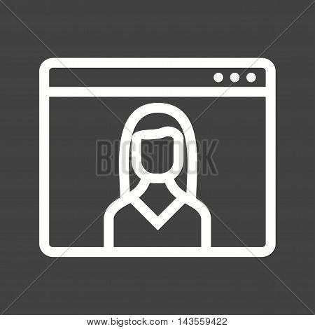 Female, web, visitor icon vector image. Can also be used for web. Suitable for mobile apps, web apps and print media.