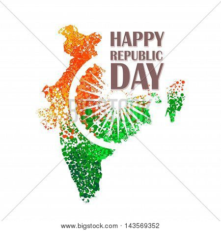 unusual background design for Indian republic day and independence day. vector illustration