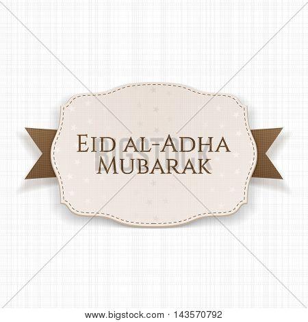 Eid al-Adha Mubarak decorative Label on textile Ribbon