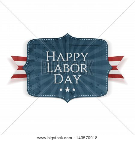Happy Labor Day Text on realistic Banner