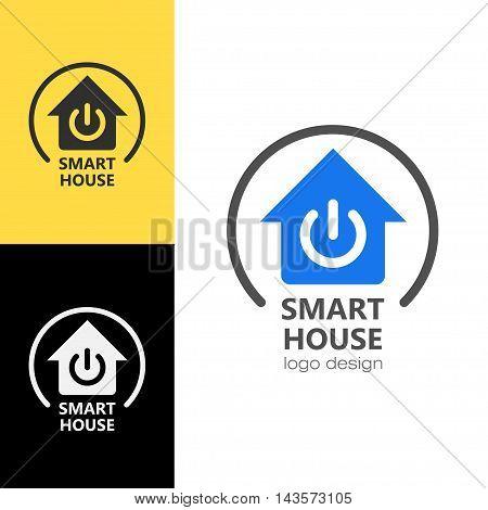 Logo design Smart house, vector art for web and print