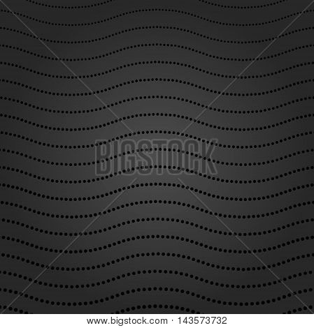 Geometric modern vector dark pattern. Fine ornament with dotted elements