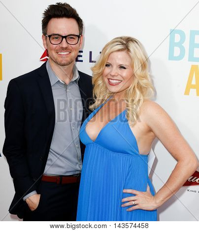 NEW YORK-JUNE 25: Megan Hilty (R) and husband Brian Gallagher at the New York premiere of