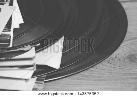 Old vinyl record - retro style photo