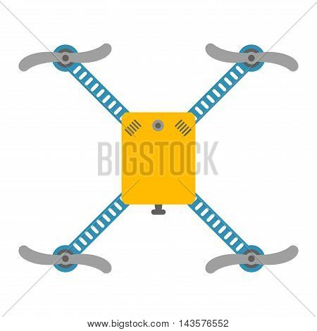 Vector illustration aerial vehicle drone quadcopter surveillance unmanned innovation.