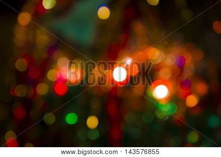 Background - Abstract, Christmas Lights Twinkling In The Distance.