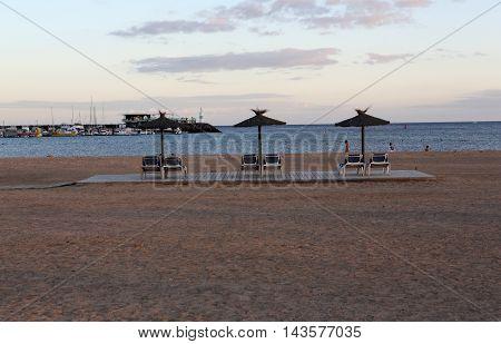 Beach in Caleta de Fuste Fuerteventura Spain