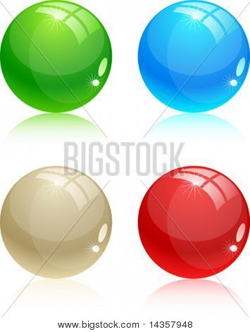 Beautiful glossy balls. Vector illustration.