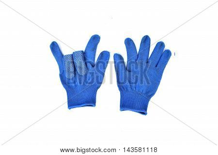 Wool gloves wear isolated on white background