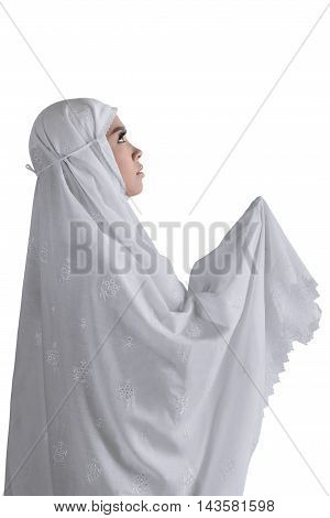 Side Of View Asian Muslim Woman