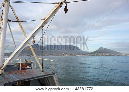 Fishing Trawler Entering Table Bay