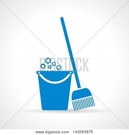 Mopping icon vector illustration isolated on white background