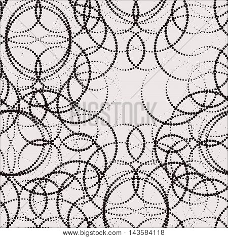Abstract modern seamless pattern of circles and peas