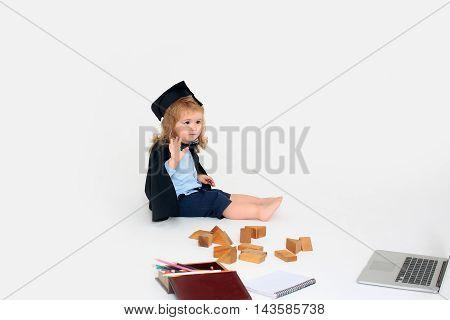 Cute Boy In Squared Cap