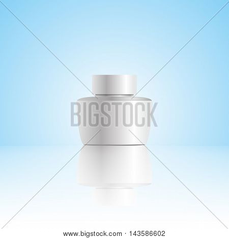 Vector Blank Cosmetic Container For Cream Powder Or Gel Eps 10