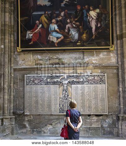 Cathedral Saint Gervais Saint Protais In Soissons, France