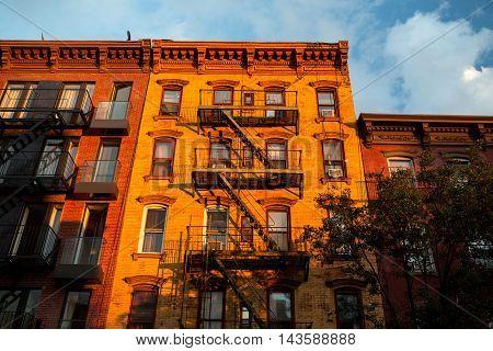 New York city building in Williamsburg Brooklyn