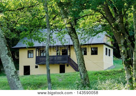 Old traditional house located in the picturesque landscape Romania