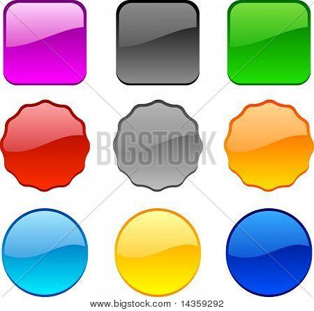 Internet shiny buttons. Vector illustration.