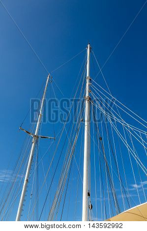 Ropes and Masts on a Sailing Vessel