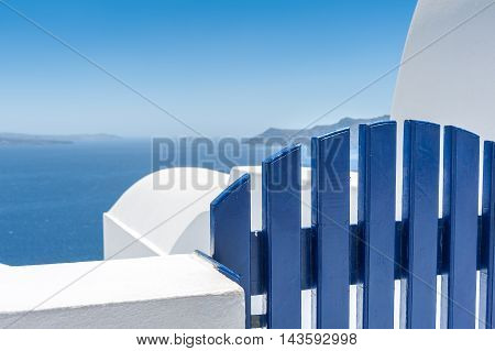 View on the caldera of Santorini from Oia village - Greece