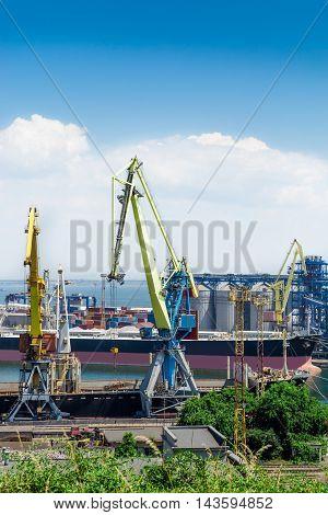 Oil tanks in the international sea port