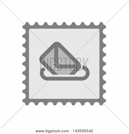 Isolated Mail Stamp Icon With  A Ballot Box
