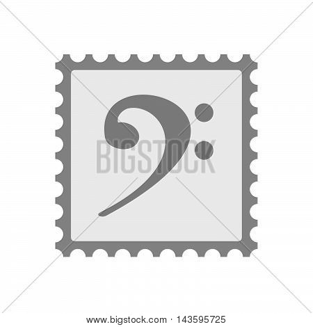 Isolated Mail Stamp Icon With An F Clef