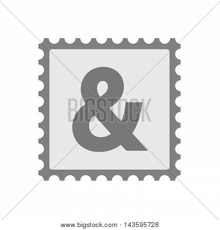 Isolated Mail Stamp Icon With An Ampersand