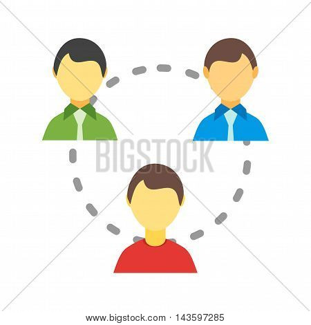 Internet, users, global icon vector image. Can also be used for networking. Suitable for use on web apps, mobile apps and print media.