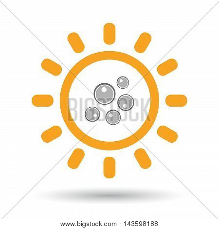 Isolated Line Art Sun Icon With Oocytes