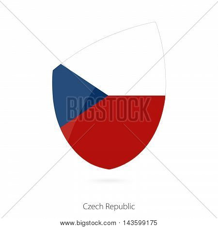 Flag Of Czech Republic. Czech Republic Rugby Flag.